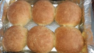 Rolls made with dark brown soft sugar